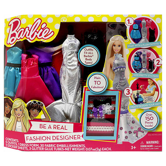 Barbie Barbie Be A Fashion Designer Doll Dress Up Kit