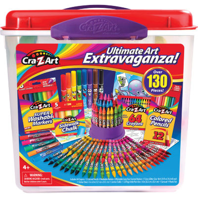 Cra-Z-Art 130 Piece Ultimate Art Extravaganza Tub