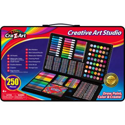 Cra-Z-Art 250 Piece Creative Art Studio - Draw Paint Color & Create