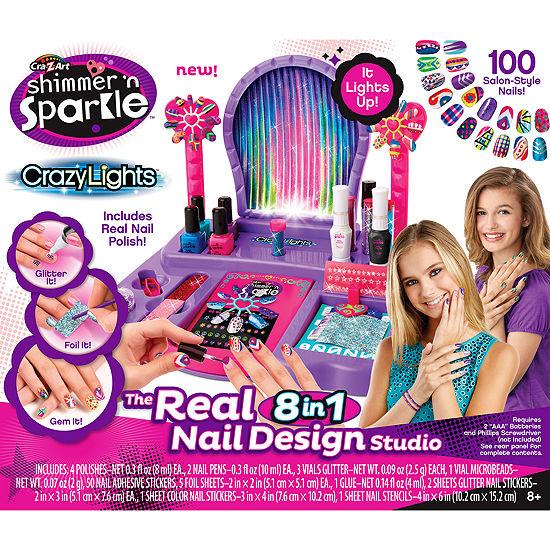 Cra-Z-Art Shimmer 'N Sparkle Crazy Lights The Real8-in-1 Nail Design Studio