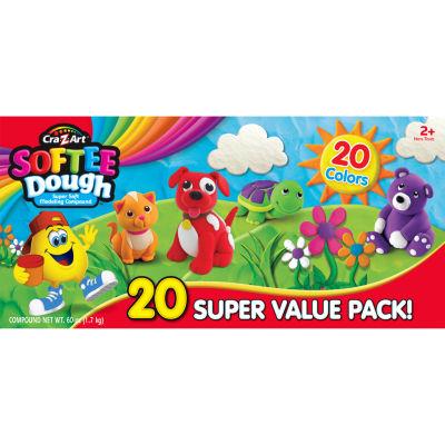 Cra-Z-Art Softee Dough Super Soft Modeling Compound - Super Value 20 Pack