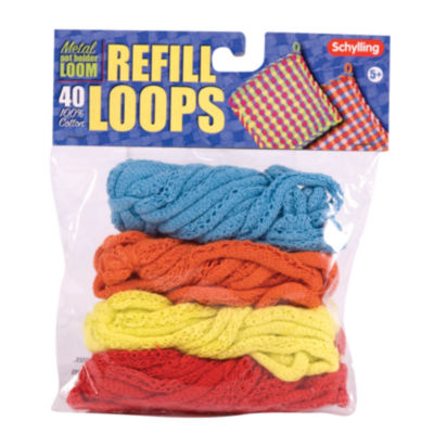 Schylling Loop Refill For Metal Potholder Loom - Colors Vary
