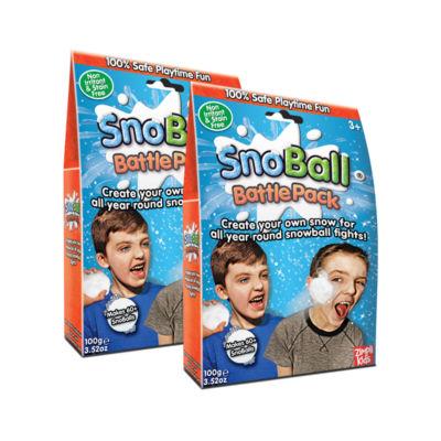 Zimpli Kids Snoball Battle Pack Bundle 2 Pack - Makes 120 Snowballs Total