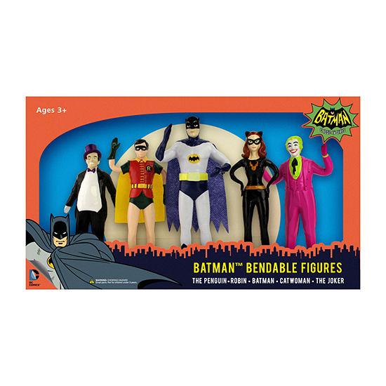 Batman 1966 Bendable Figure Set: The Penguin- Robin- Batman- Catwoman- The Joker