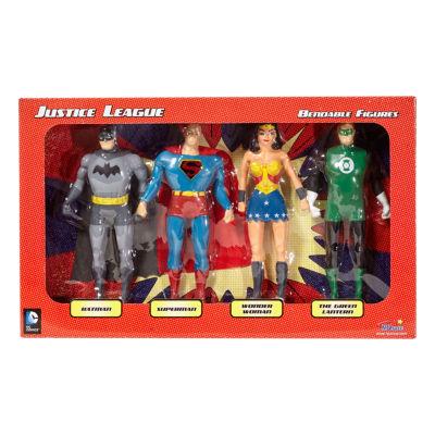 DC Comics - Justice League 4-Piece Bendable Figures Set