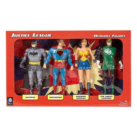 Justice League 4-Piece Bendable Figures Set