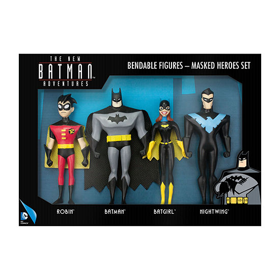 DC Comics - The New Batman Adventures Masked Heroes Bendable Figures Set