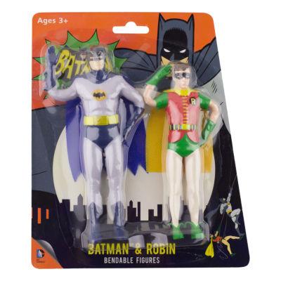"DC Comics Bendable 5.5"" Figure 1966 Batman & Robin"""