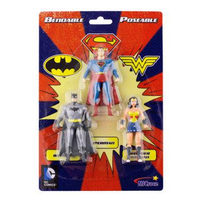 DC Comics Mini 3-Pack of Figures: Batman- Superman- Wonder Woman