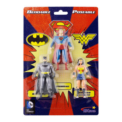 DC Comics Mini 3-Pack of Figures: Batman- Superman- Wonder Woman