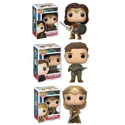 Funko POP! Movies Heros Wonder Woman Collectors Set; Sword & Shield Wonder Woman- Hippolyta- Steve Trevor