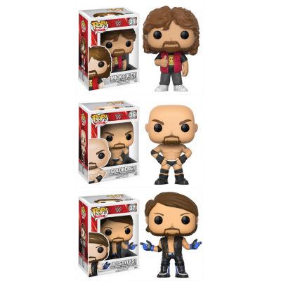 Funko POP! WWE Collectors Set; Mick Foley Old School- Goldberg Old School- AJ Styles