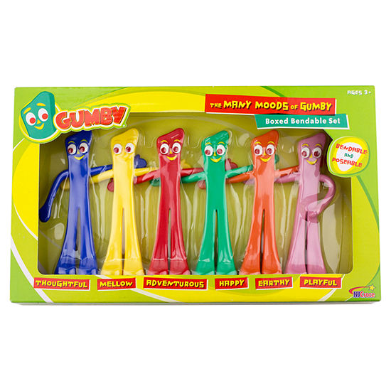 "Gumby ""Many Moods"" Bendable Figures Set"