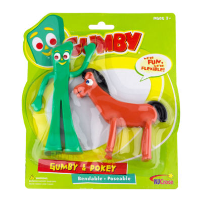 "Gumby and Pokey 6"" Bendable Figure Pair"""