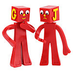 "Gumby The Blockheads 5"" Bendable Figures Pair"""