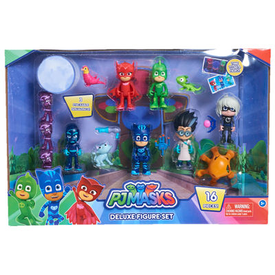 Pj Masks Deluxe 16-Piece Figure Set
