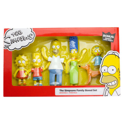 The Simpsons Family Bendable Figures Set