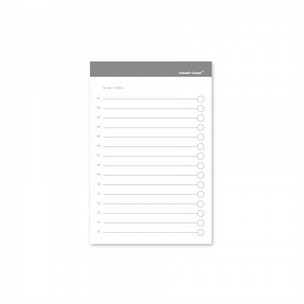 Russell+Hazel® To-Do Adhesive Notes Charcoal