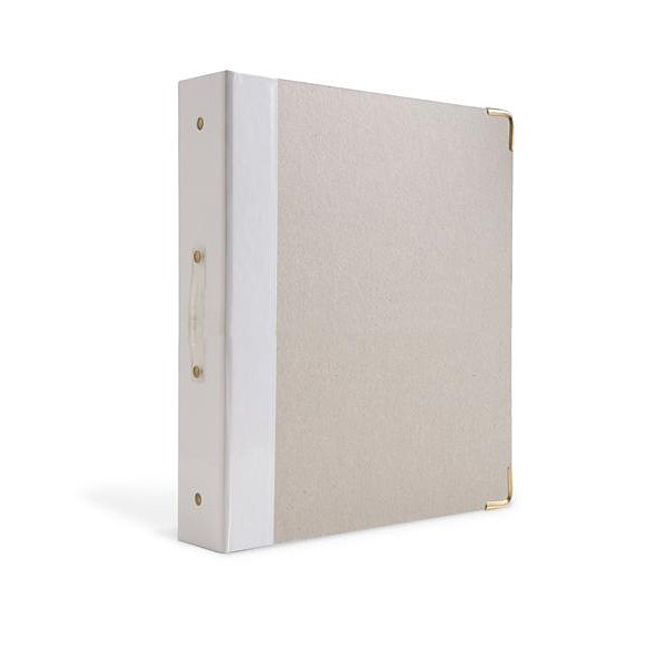 Russell+Hazel® White Signature 3 Ring Binder