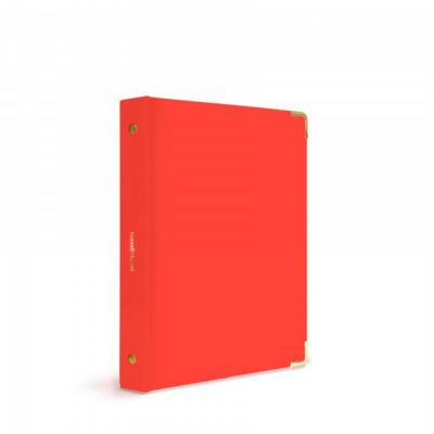 Russell+Hazel® Red-Orange Patent Mini 3 Ring Binder