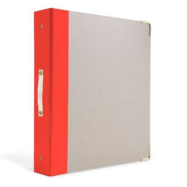 Russell+Hazel® Red/Orange Signature 3 Ring Binder