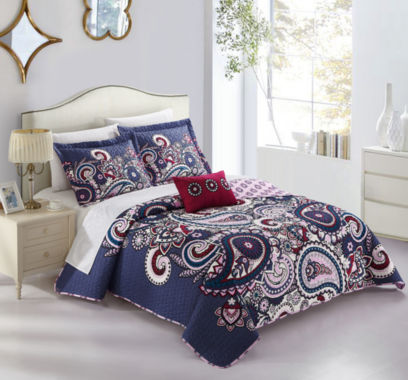 Chic Home Reims Quilt Set