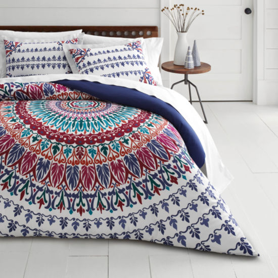 Azalea Skye Hanna Medallion Navy Duvet Cover Set