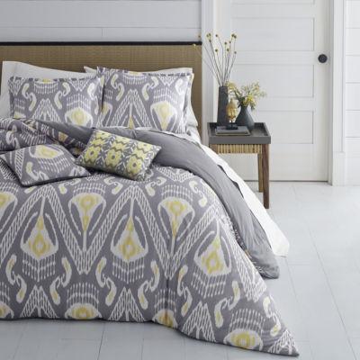 Azalea Skye Global Ikat Grey Duvet Cover Set
