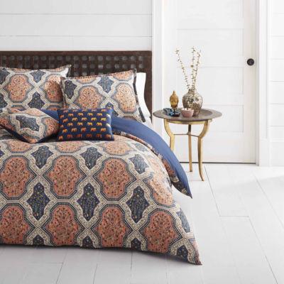 Azalea Skye Rhea Bright Orange Comforter Set