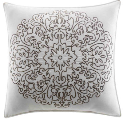 Stone Cottage Medallion Brown Square Pillow