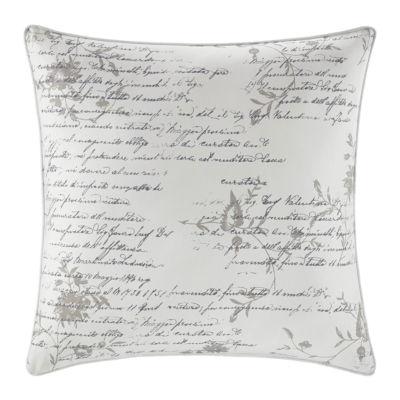 Stone Cottage Script Natural Square Pillow