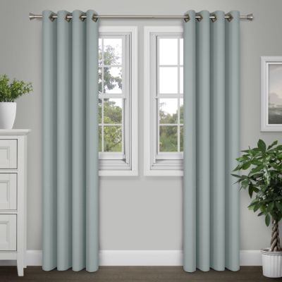 Journee Home Kim 84-in Grommet Extra Wide Faux Silk Curtain Panel Pair