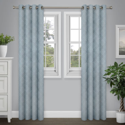 Journee Home Lora 84-in Grommet Blackout Curtain Panel Pair