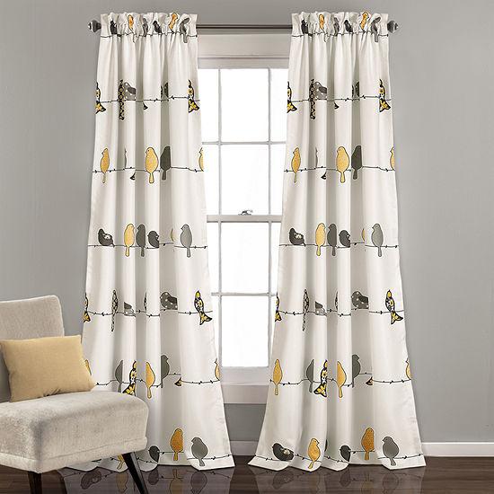 Half Moon Rowley Birds Room Darkening Window Curtain