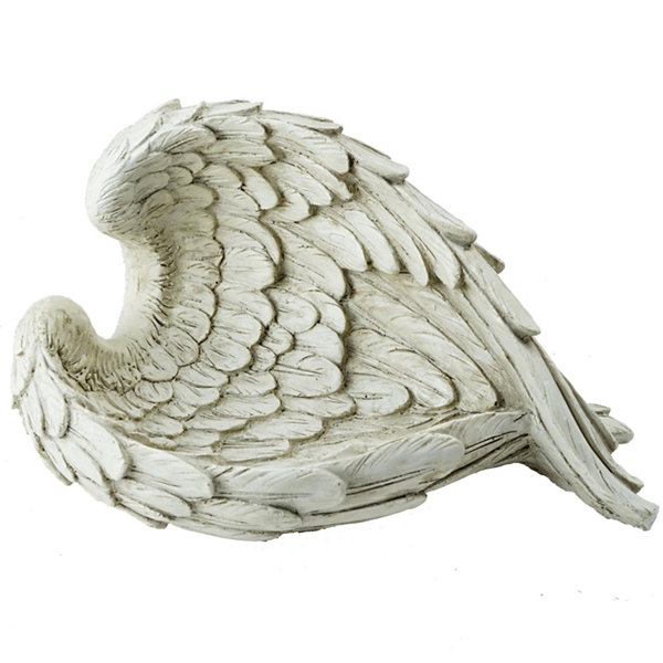 "10.75"" Decorative Angel Wings Religious Outdoor Garden Statue"""