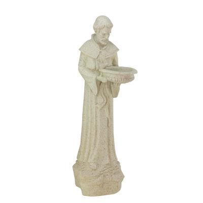 """24"""" St. Francis of Assisi Religious Bird Feeder Outdoor Patio Garden Statue"""""""