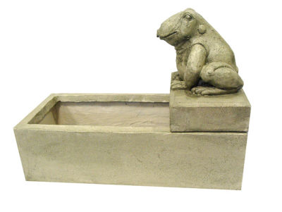 "26"" Light Green Frog Outdoor Garden Water Fountain"""