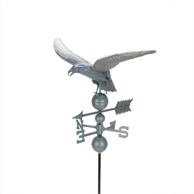 3' Weathered Copper Patina Eagle Outdoor Weathervane