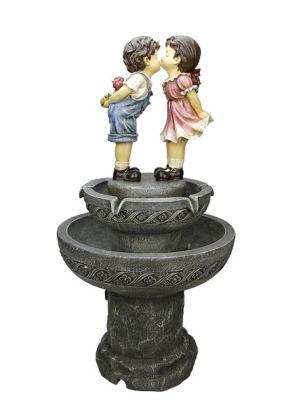 """36"""" Kissing Boy and Girl Outdoor Patio Garden Water Fountain"""""""