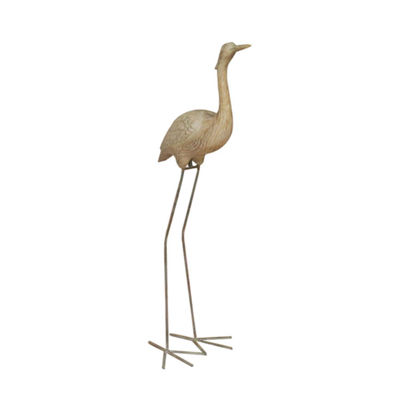 "38.5"" Red-Crowned Crane Outdoor Patio Garden Statue"""