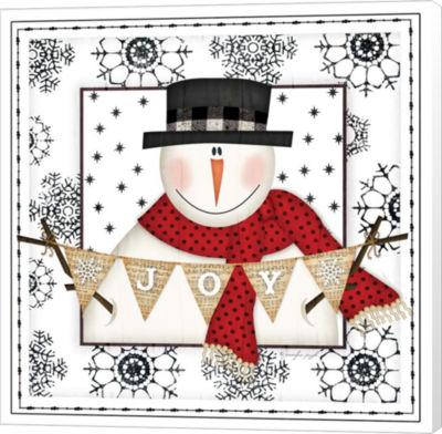 Metaverse Art Snowman Snowflake Iv Museum Wrapped canvas Wall Art