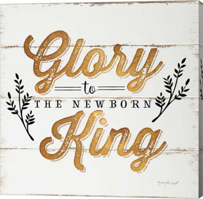 Metaverse Art Glory to the Newborn King Gallery Wrapped Canvas Wall Art
