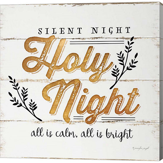 Metaverse Art Silent Night Gallery Wrapped CanvasWall Art