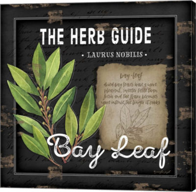 Metaverse Art Herb Guide Bay Leaf Gallery Wrapped canvas Wall Art