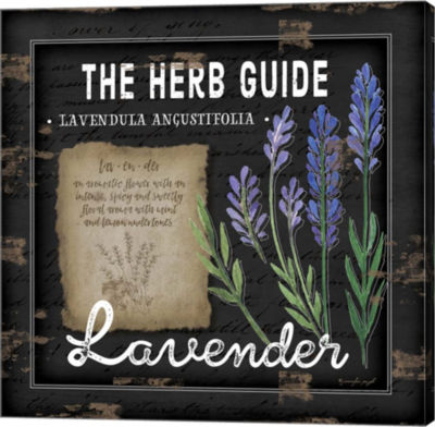 Metaverse Art Herb Guide Lavender Gallery Wrapped Canvas Wall Art