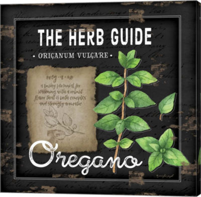 Metaverse Art Herb Guide Oregano Gallery Wrapped Canvas Wall Art