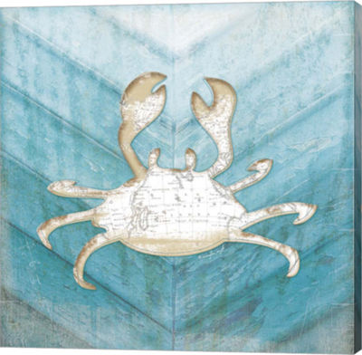 Metaverse Art Coastal Crab Gallery Wrapped Canvas wall Art