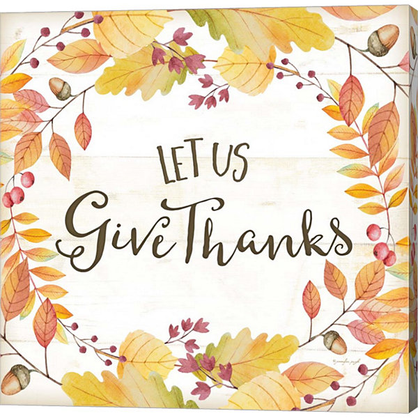 Metaverse Art Let Us Give Thanks Gallery Wrapped Canvas Wall Art