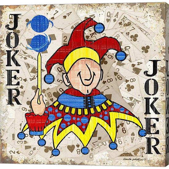 Metaverse Art Joker II Gallery Wrapped Canvas Wall Art