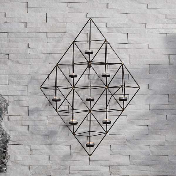 Danya B. Rhomboid Geometric Wall Tea Light Holder